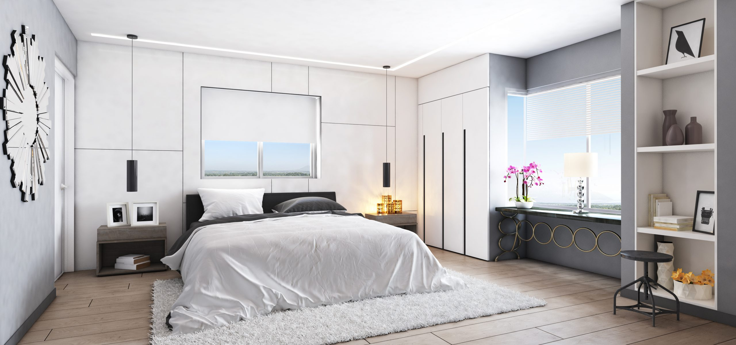 חדר שינה בפרויקט ONE רמת אביב