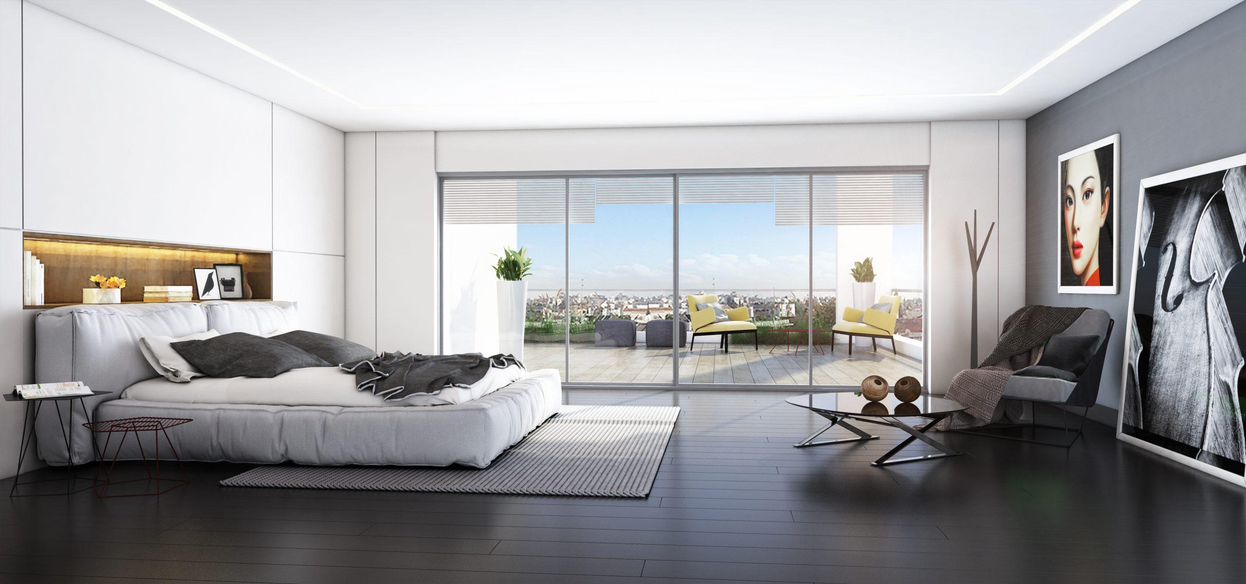 דירה למכירה ברמת אביב - חדר שינה ב פרויקט ONE